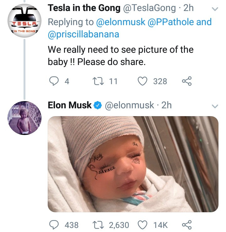 Elon Musk and singer Grimes welcome their first child together