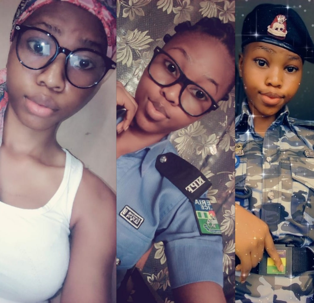 """Arrest me"" Nigerian men beg as baby-faced female police nicknamed"