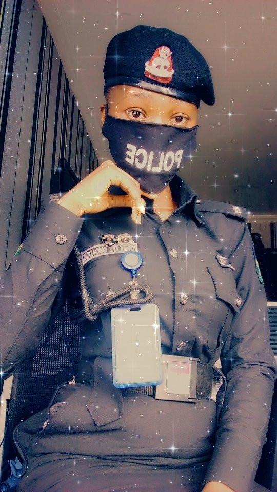 """Arrest me"" Nigerian men beg as baby-faced female police nicknamed"