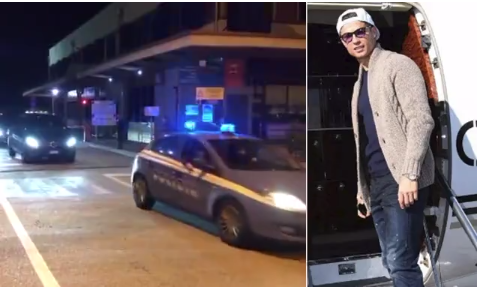 Cristiano Ronaldo and his family return to Turin with a huge convoy of cars after Coronavirus lockdown (Video)