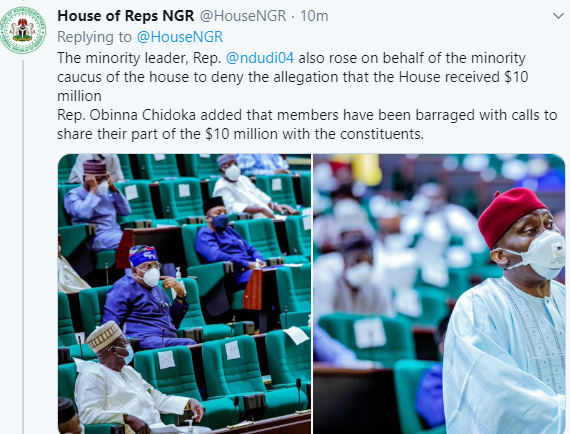 House of Reps members deny collecting $10m to hurriedly pass controversial Infectious Disease bill