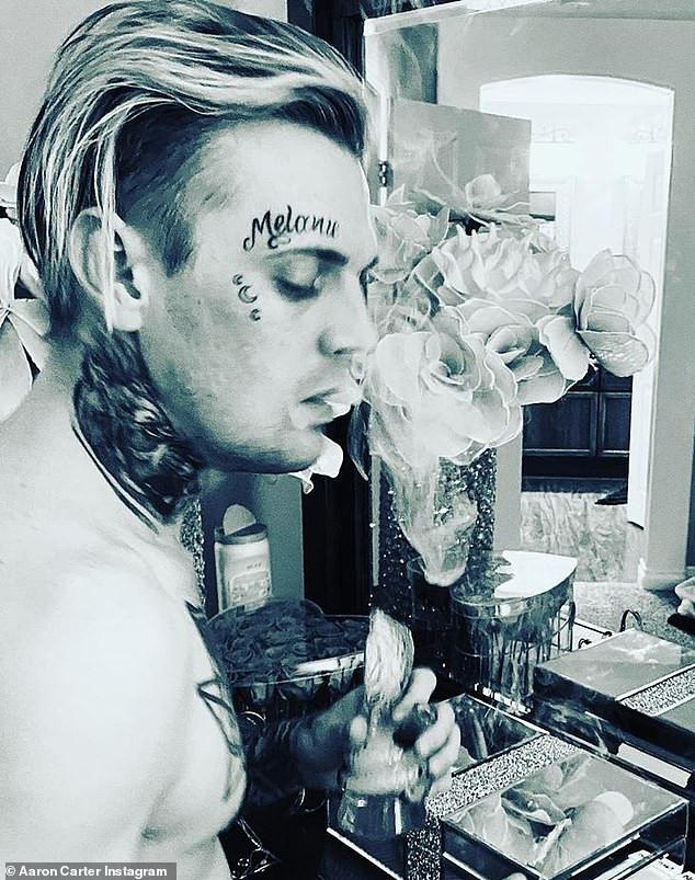 Rapper, Aaron Carter calls face tattoo of his pregnant ex-girlfriend