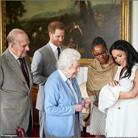The Queen wishes great-grandson baby Archie a happy first birthday with an adorable throwback photo