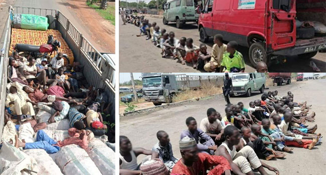 150 travellers and Almajiri children intercepted in Kaduna by security operatives