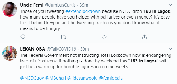 Nigerians react as 183 new cases of COVID-19 are recorded in Lagos