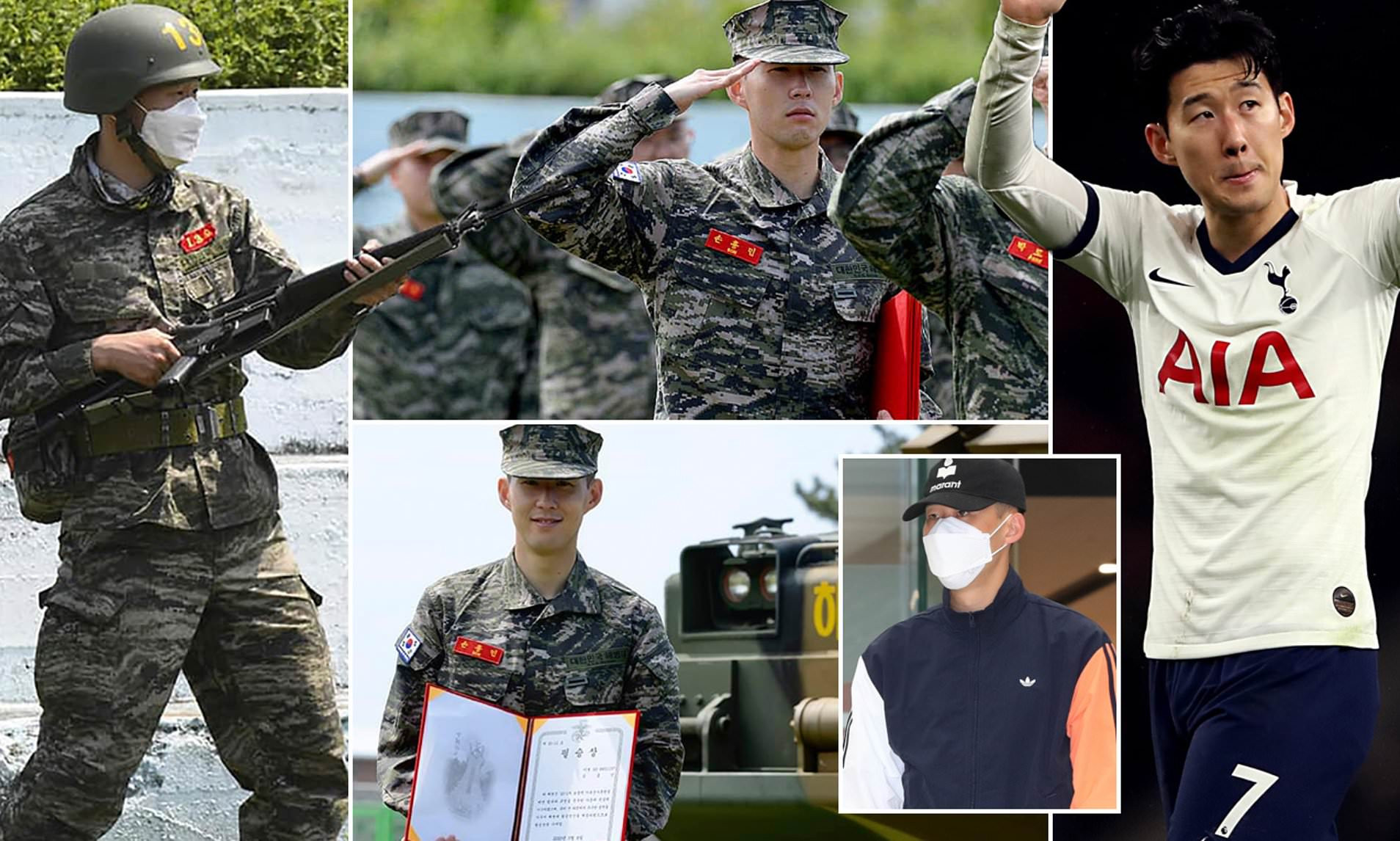 Tottenham Forward, Son finishes military training in South Korea
