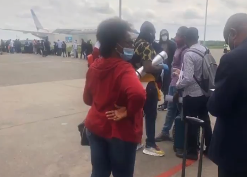 Nigerians evacuated from the UK due to Coronavirus pandemic arrive the country