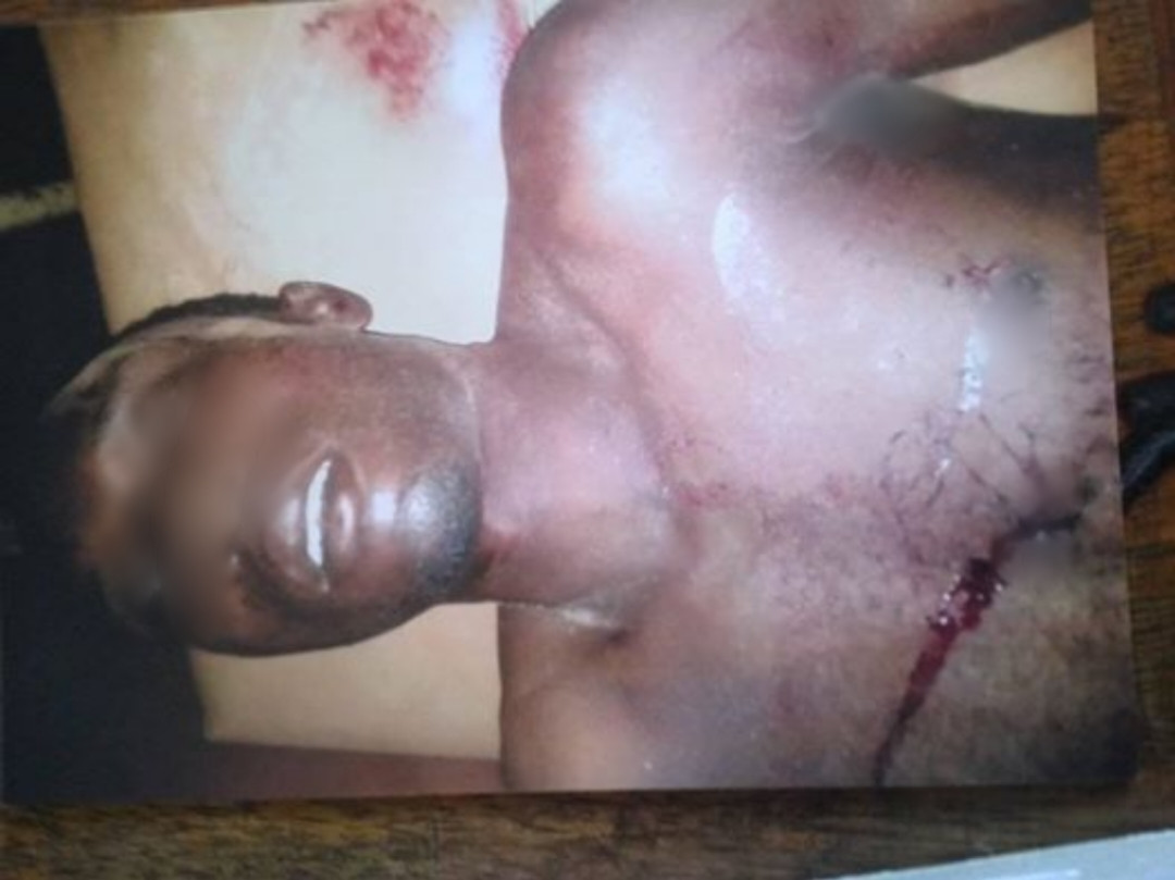 Graphic photos of man stabbed to death by his 22-year-old pregnant wife in Nasarawa