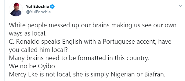 Mercy is not local, she is simply a Nigerian or Biafran - Yul Edochie defends Mercy after being tagged