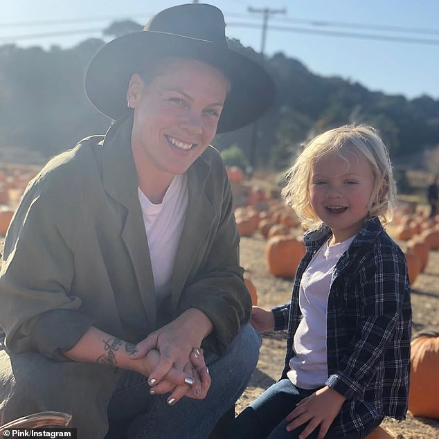 Pink opens up about her and her son