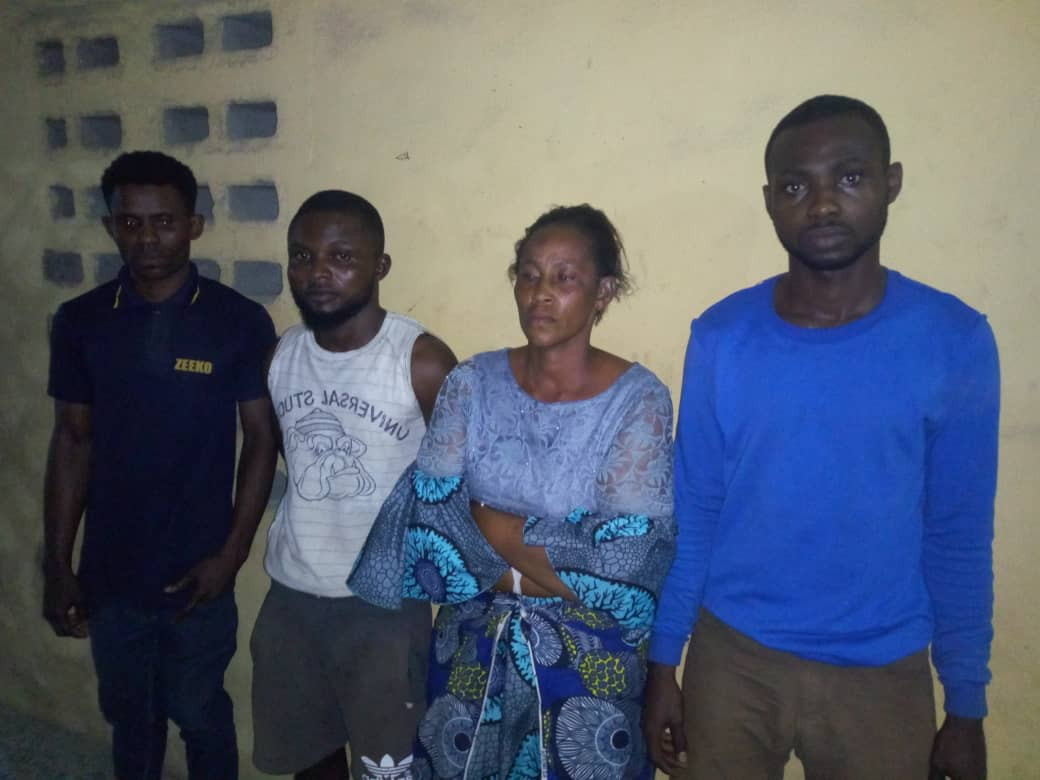 Four suspects arrested for allegedly killing a 16 year old house girl in Lagos (photo)