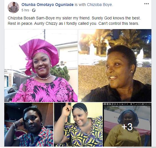 Tinsel and Living in Bondage star, Chizoba Bosah is dead