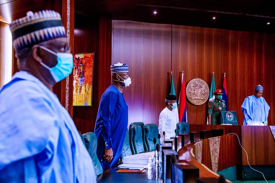 President Buhari presides over virtual Federal Executive Council meeting (photos)