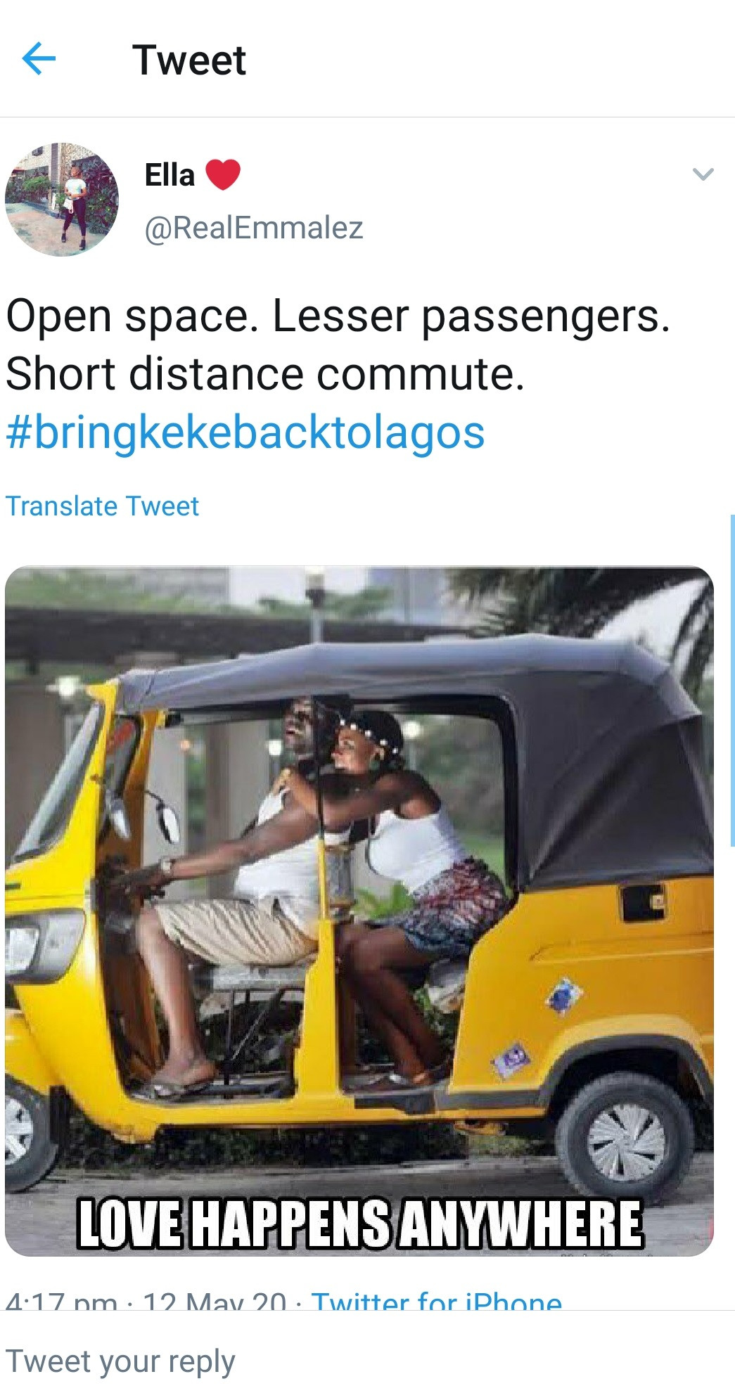 Lagosians are asking for the return of keke because of worsened traffic after ease of lockdown