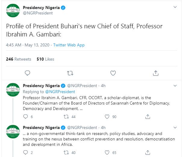 Official Bio-data of Ibrahim Gambari, President Buhari?s new Chief of Staff