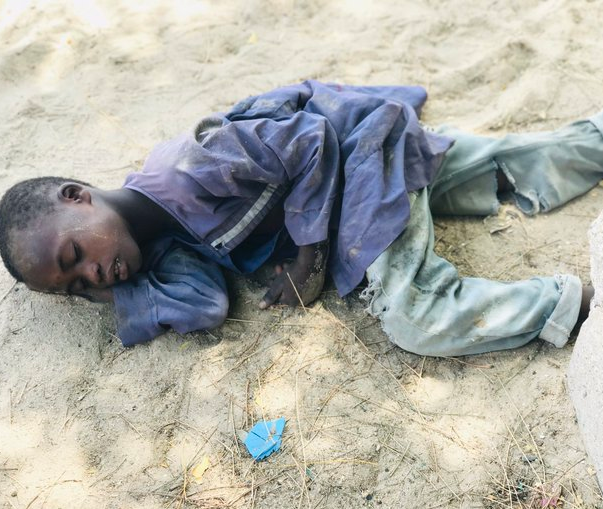 Activist narrates his encounter with an Almajiri boy he found sleeping on the street in Borno