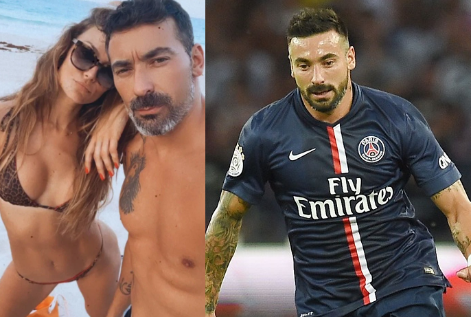 Ex-PSG star, Ezequiel Lavezzi and his model girlfriend Natalia Borges caught up in sex tape blackmail plot as hackers ?threaten to post their intimate videos