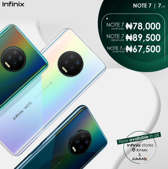 Infinix unveils the masterfully designed Note 7 in the first online smartphone launch with celebrities in Africa