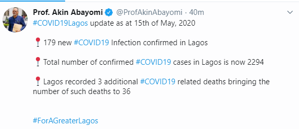 Three more COVID-19 deaths recorded in Lagos