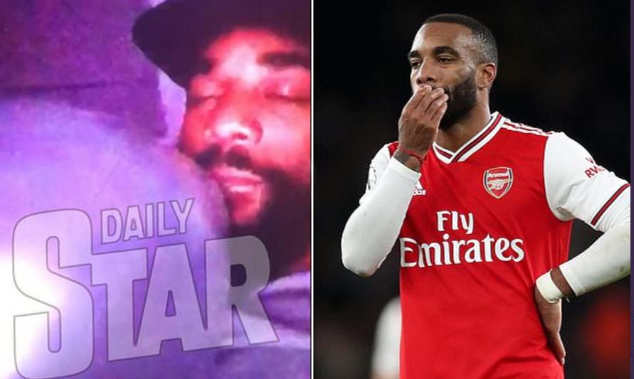 Arsenal star, Alexandre Lacazette seen inhaling