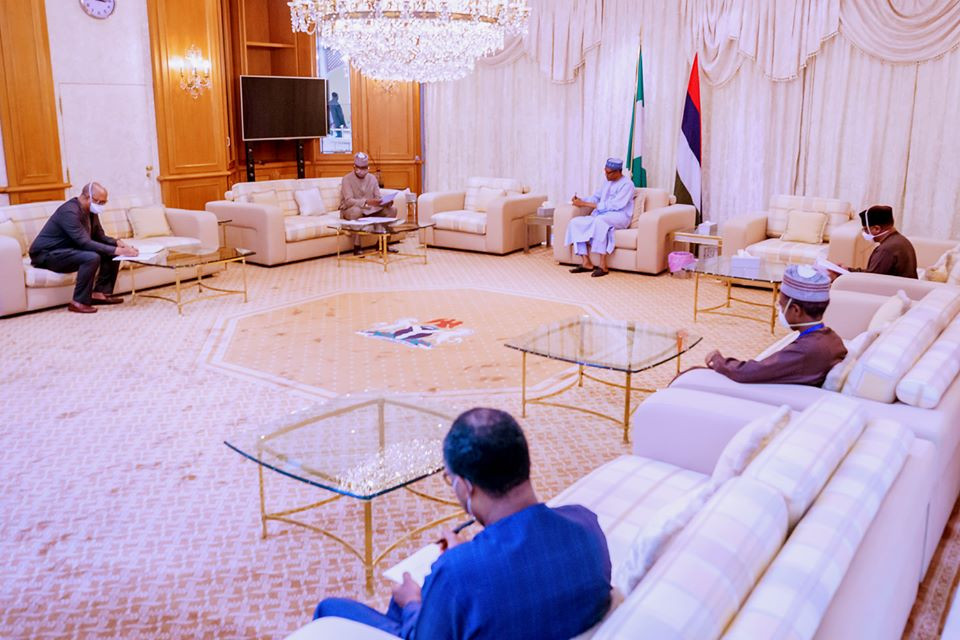 President Buhari receives post lockdown report from COVID-19 task force team (photos)