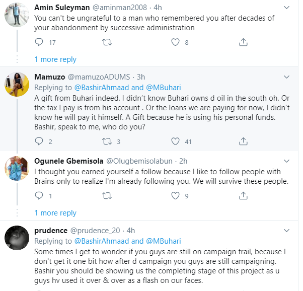 Nigerians on Twitter tackle Presidential aide, Bashir Ahmed, over his tweet about the Second Niger Bridge