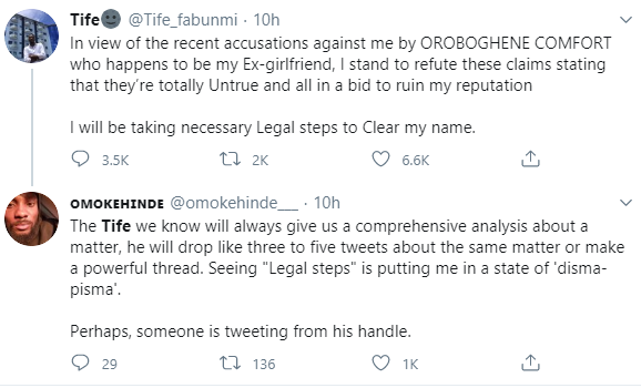 Twitter influencer accused of rape by his ex-girlfriend apologizes hours after threatening to take her to court