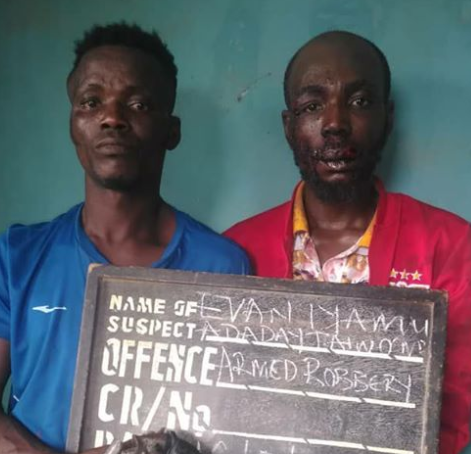 Two Members Of A Robbery Syndicate Arrested In Ajuwon Area Of Ogun State