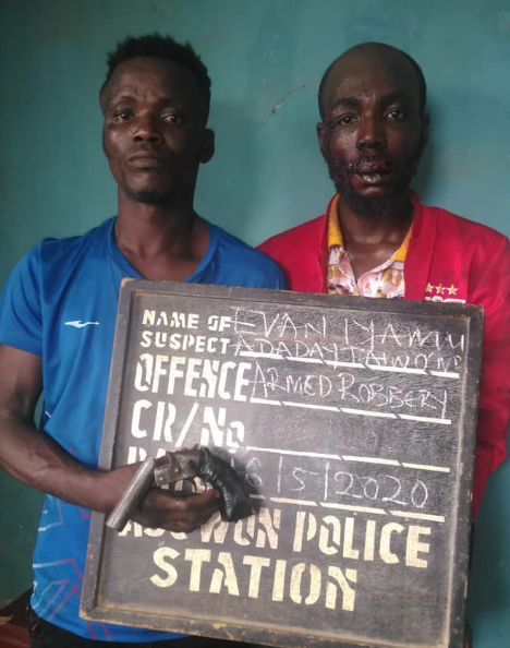 Two members of a robbery syndicate arrested in Ogun