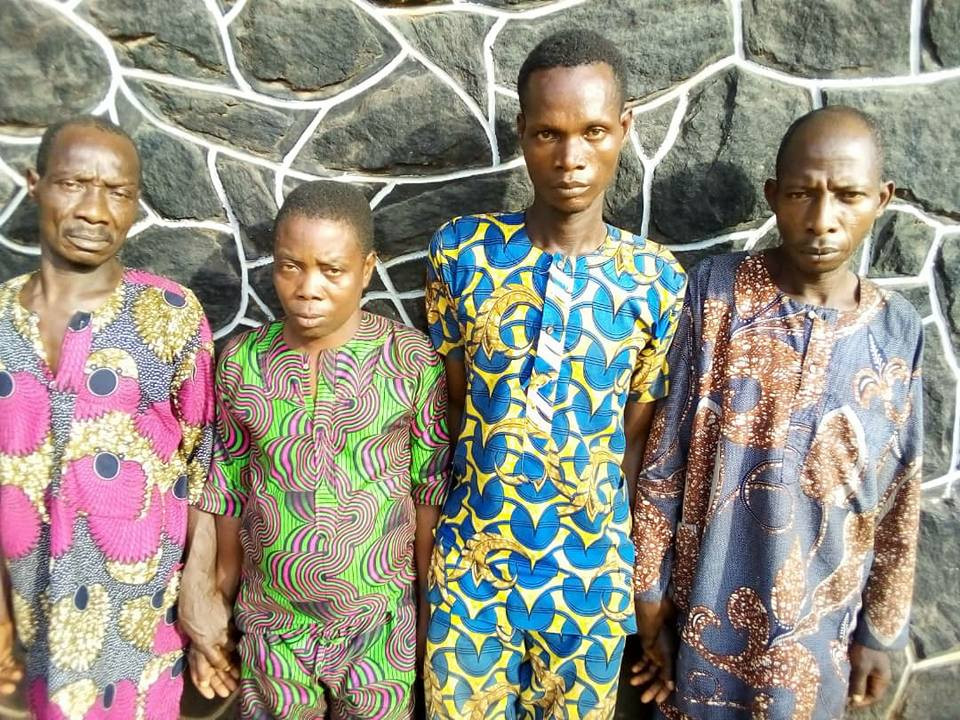 Three Friends arrested with fresh human hand in Ogun (photos)