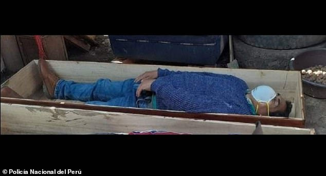 Mayor lies in coffin and pretends to be dead Coronavirus victim to avoid arrest after breaking curfew rules to go drinking