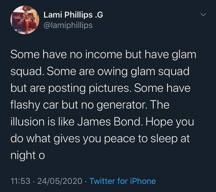 """""""Some people are broke but will spend millions on perception"""" Lami Phillips reveals the extent people go to live a fake life"""