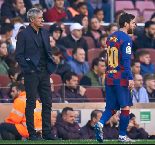 Barcelona coach, Quique Setien hits back at Lionel Messi for saying they can