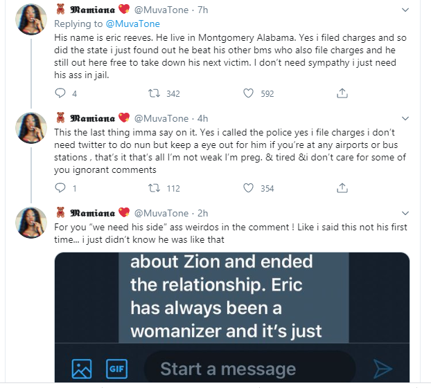 Lady calls for her boyfriend