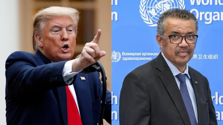 W.H.O suspends trial of Trump