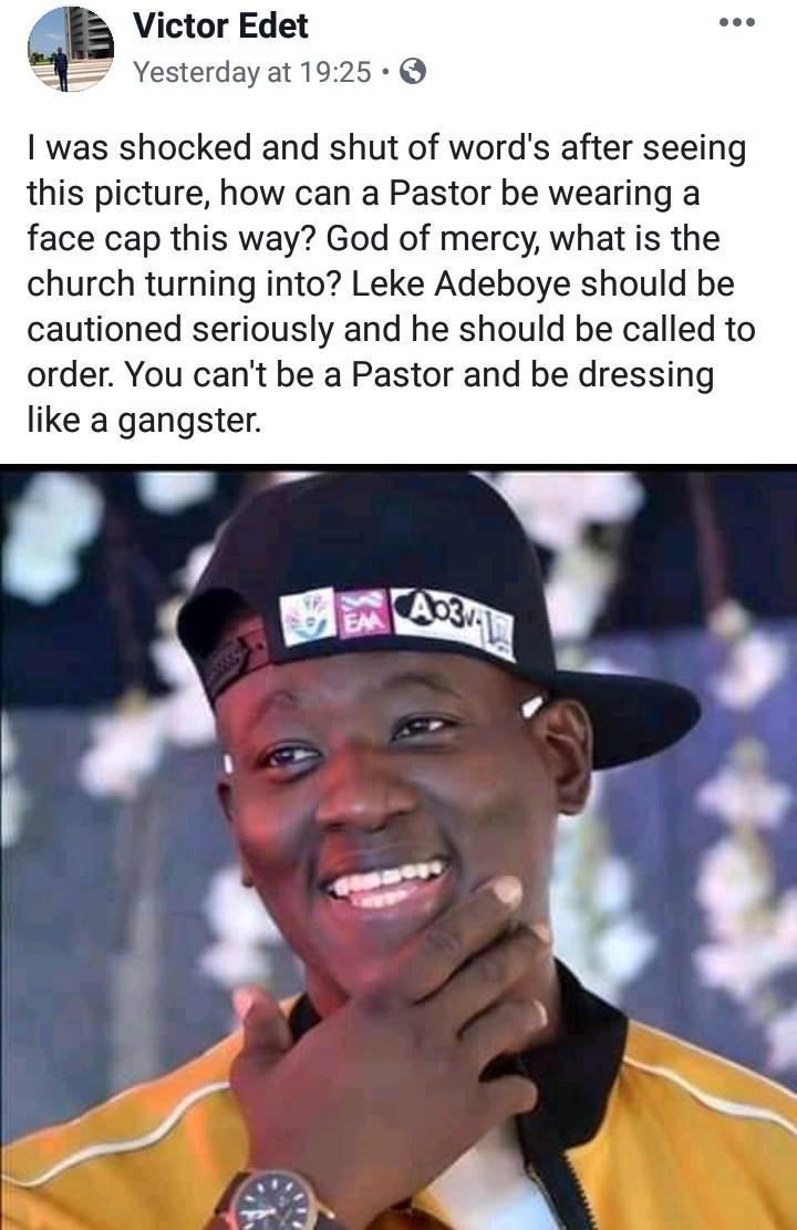 """Evangelist condemns Pastor Leke Adeboye for """"dressing like a gangstar"""""""