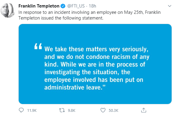 amy cooper the White woman who claimed an African American man was threatening her life has been fired hours after she was placed on administrative leave