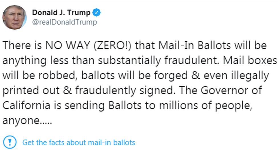 Twitter tags President Trump