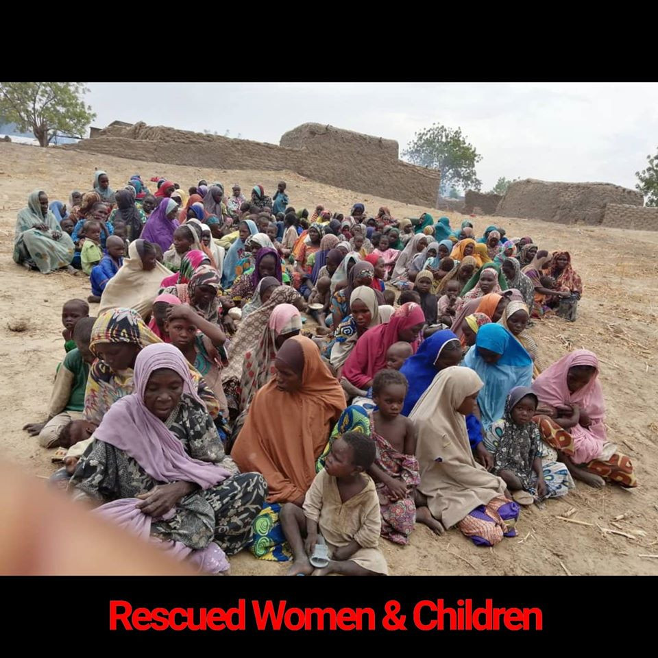 Nigerian troops rescue 241 women and children from Boko Haram captivity (photos)
