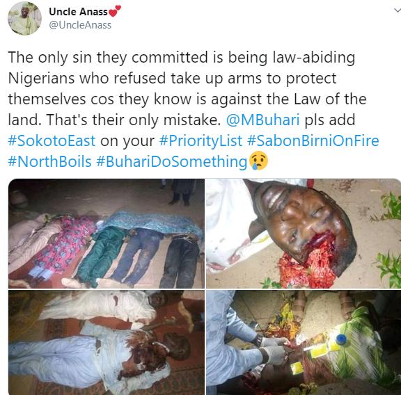 Gunmen kill over 50 persons in three villages in Sokoto (photos)
