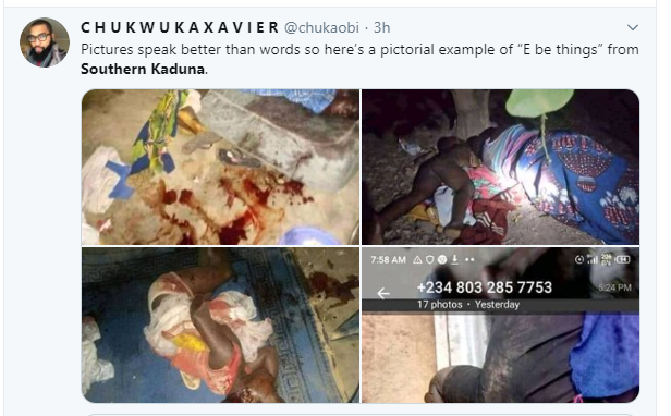 Kaduna First Lady called out for celebrating 80k followers on Twitter as #SouthernKaduna trends (graphic photos)