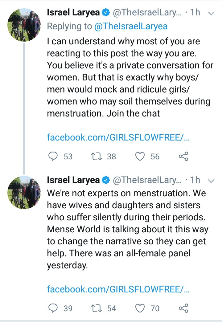 Outrage as panel to discuss menstrual hygiene is made up of only men
