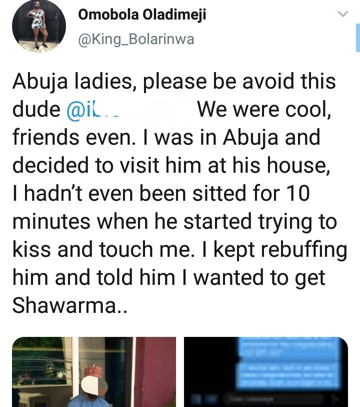 Alleged rapist exposed on Twitter as lady releases receipts to warn women about him after he allegedly assaulted her sexually and threatened to rape her