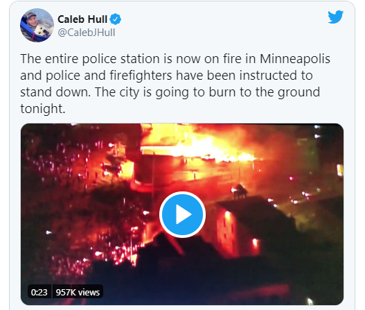 Rioters set Minneapolis Third Precinct police station on fire (videos)