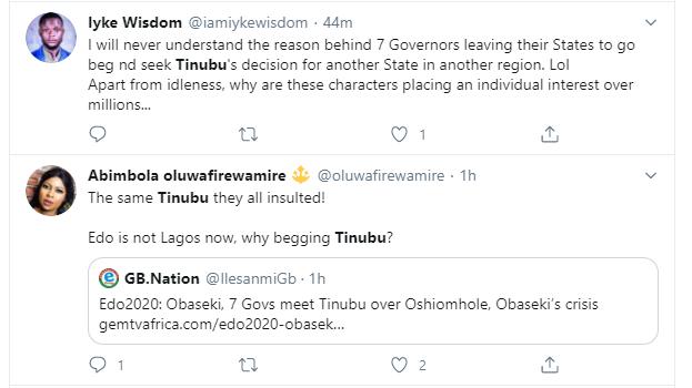 Nigerians react to Tinubu