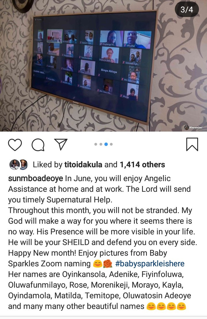 Sunmbo Adeoye shares photos from her daughter