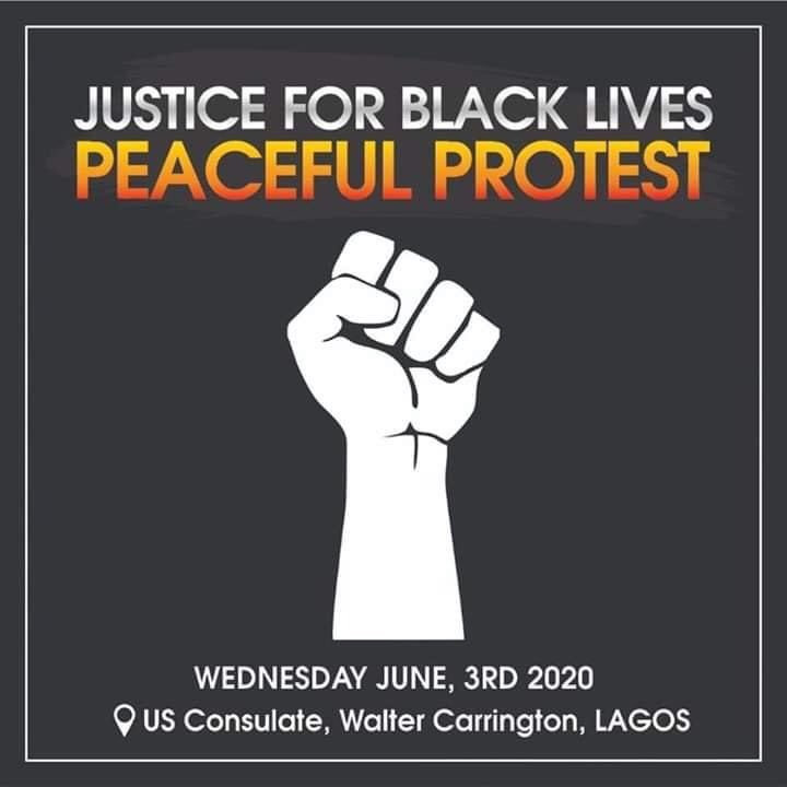 george floyd protest in lagos nigeria black lives matter