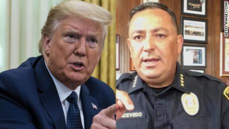 'If you don't have something constructive to say, keep your mouth shut' - Courageous police officer tells Donald Trump (Video)