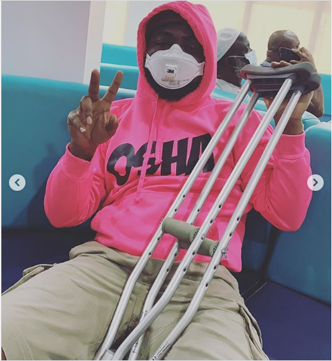 davido leg injury