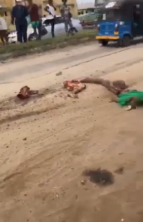 Mother and child crushed to death by a petrol tanker in Delta (graphic)